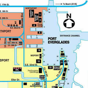 Port map of Fort Lauderdale Cruise port